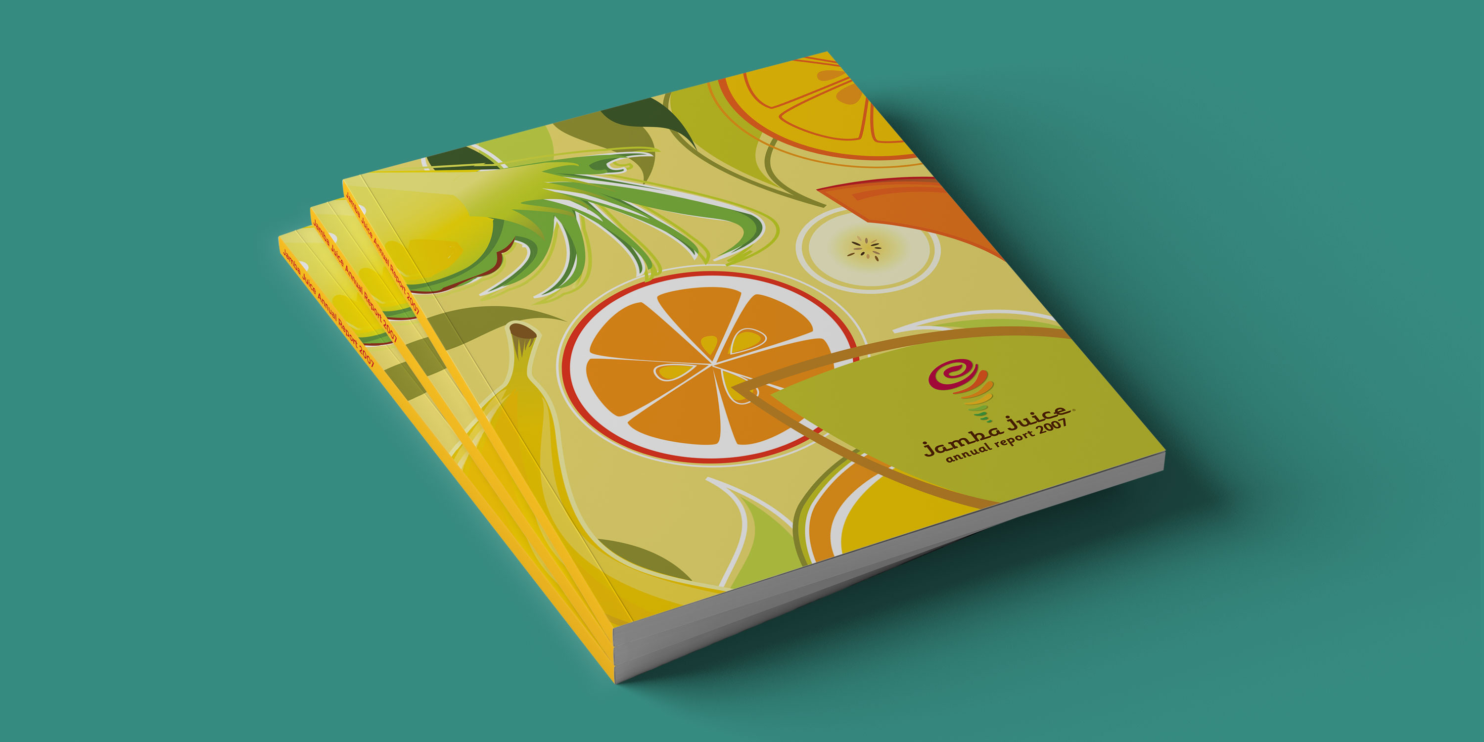 Stacked Jamba Juice Annual Reports.